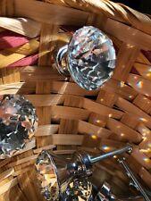 4 Diamond Crystal Door Dresser Knobs Drawer Furniture Pull Handle Cabinet