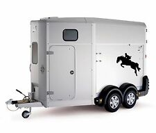 Equitación Ecuestre Doma Coche Camión Trailer Caja Bonnet Adhesivo Calcomanía H19b