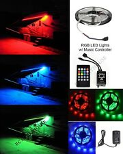 12' RV LED Camper Awning Boat Light Set IR Remote Music RGB 12' 3528 Waterproof