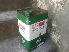CASTROL MOTOR OIL WITH LIQUID TUNGSTEN, ancien bidon castrol, antique can oil 6l