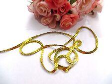 6 metres Hologram Gold String Sequin Braid LaceTrim Dance Tutu 6 mm#2GD272R