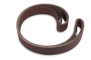 2 X 48 Inch 80 Grit Aluminum Oxide Multipurpose Sanding Belts, 6 Pack