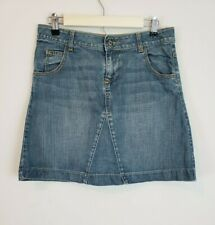 2fe29cc3b64 Boden Women s Denim Jean A-Line Skirt 5 Pockets 100% Cotton Medium Wash Size