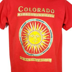 Colorado Sun God T Shirt Vintage 90s Golden Art Tee Made In USA Size Medium NEW