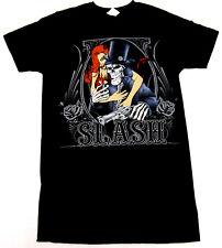 SLASH T-shirt GnR LA Rock GUNS N' ROSES Tee Adult Men Slim Fit SMALL Black New