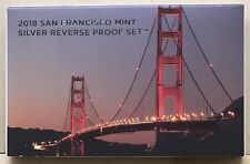 2018 S San Francisco Mint Silver Reverse Proof Set, Limited Mintage
