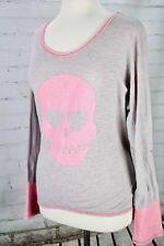 Pink Skull Lightweight Sweater Pullover Knit Top Sz S Oversize VINTAGE HAVANA