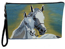Horse Pouch Wristlet with detachable strap - From my orginal Painting