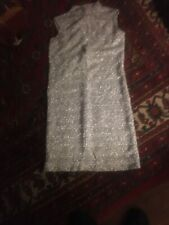 70's Vtg Metalic Yarn Wiggle Dress
