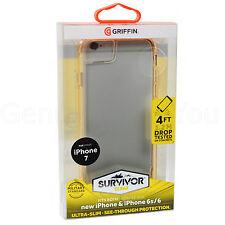 Genuine Griffin Sobreviviente Transparente Estuche Cubierta Paragolpes Marco Para iPhone 7/6S/6 - Oro