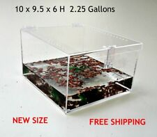 2.25 GALLON CAGE WITH FREE SHIPPING TARANTULA,REPTILES,SPIDERS, TERRARIUM, SNAKE