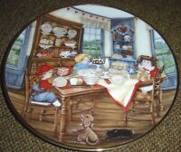 Suppertime Franklin Mint Porcelain Plate By Karyn E. Bell Limited Edition
