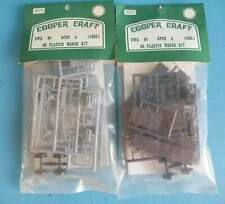 2 x Bagged Cooper Craft Plastic OO 4mm Kit 1001 - GWR 04 Open A Wagon