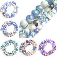 Wholesale Lot Natural Stone Fire Agate Round Spacer Loose Beads 4MM 6MM 8MM 10MM