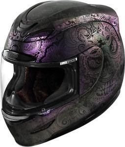Icon Arimada Chantilly Opal Medium Fullface Motorcycle Riding Street Helmet
