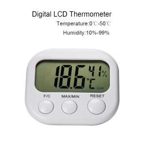 Digital Thermometer Humidity Meter Gauge Room Temperature Indoor LCD Hygrometer