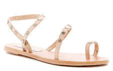 NEW STEVE MADDEN PAIGE SANDALS WOMENS 10 STRAPPY TOE LOOP SANDALS BLUSH FREE SH