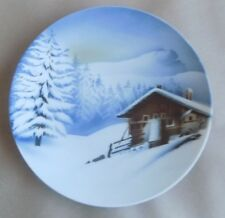Antique VILLEROY & BOCH Wallerfangen Factory Plate - Winter Scene