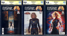 Captain Marvel 1 2 3 Movie Photo Variant SS CGC 9.8 Brie Larson Signature Series