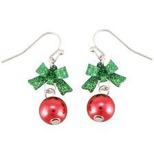 Christmas Earrings Women Romantic Bow Tie Ear Stone Fashion Shiny Rhineston P1h1