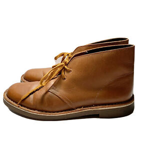 Clarks Mens Atticus Limit Tan Leather Ankle Boots Size 9 (1502632)