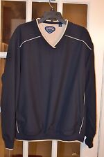 Callaway Men's Golf V Neck Pullover Blue W/Beige Trim Size M Pre-Owned Exc Cond.