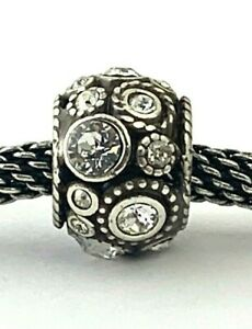 Brighton Clear Halo Bead, Silver Finish with Clear Stones, JC1461 New