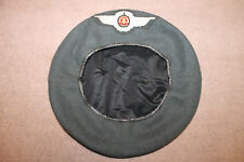 Original & Scarce East German Air Force Wool Beret w/Sewn Insignia, Euro Size 56