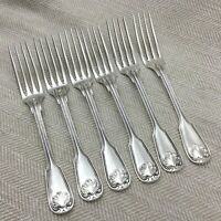 Christofle Silver Plated Cutlery Vendome Arcantia Large Table Forks Set of 6