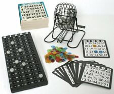 Großes Bingo Spiel + 500 Bingokarten Bingospiel  Metall Bingotrommel Neu