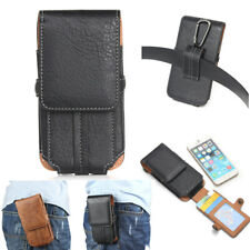 Luxury Belt Clip Holster Soft Pouch Leather Flip Card Wallet Phone Case Cover