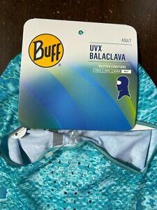NEW Buff UVX Balaclava Mask 98% UV Protection Tropical Ocean Camo Turquoise Blue