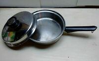 Amway Queen Waterless Stainless 1.5 Qt Sauce Saute Fry Pan Pot Casserole & Lid