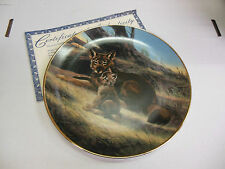 W.S. George Collector's Plate #11141B The Red Wolf 1989 061313ame