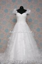 Uk 1396 White Ivory Wedding Dresses dress princess tulle ball gown san Aspen new