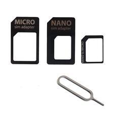 KIT 3in1 ADAPTER CARD ADATTATORI NANO MICRO SIM PER SMARTPHONE IPHONE SAMSUNG