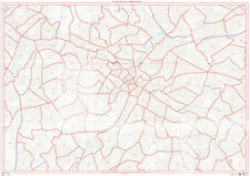 Postcode City Sector Map of Birmingham Laminated Write-On Wipe-Off