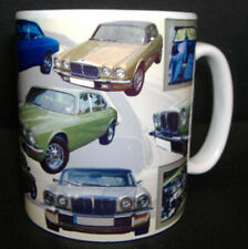 JAGUAR XJ6 SERIES 2 II CLASSIC CAR MUG LIMITED EDITION. WITH HISTORY ON REVERSE