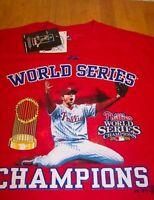 PHILADELPHIA PHILLIES WORLD SERIES CHAMPIONS MLB BRAD LIDGE T-Shirt LARGE NEW