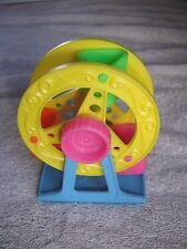 "Dollhouse Miniature Plastic Ferris Wheel Turns Tootsie Toy Hong Kong ?1970s 4.5"""