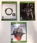 Xbox One Game Bundle (Gears 5, Skyrim, The Elder Scrolls Online) Played Once!