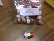 """QTY 10 SMC KQH11-36S one touch male connector 3/8"""" OD X 3/8"""" NPT KQH1136S festo"""