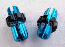 Dia-Compe M10 threaded bicycle brake lever barrel adjusters - PAIR - BLUE