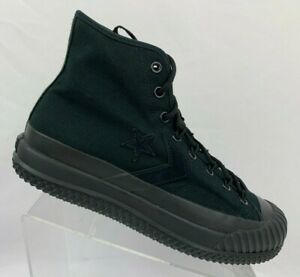 Converse Bosey MC High Top Triple Black Boot Athletic Sneakers 166221C Size