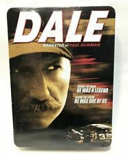 """NEW~DALE EARNHARDT NASCAR """"DALE"""" NARRATED BY PAUL NEWMAN DVD RACING GIFT BOX SET"""
