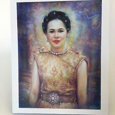 Queen Sirikit Thailand in Traditional Thai dress Painting Photo 12x10 inch