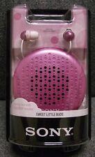 SONY MDR-EX34SC  Auriculares Intra-auditivos + Estuche con altavoces- color rosa