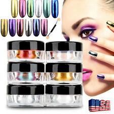 12 Colors Nail Glitter Powder Shinning Nail Mirror Powder Makeup Art Chrome USPS