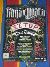 GUNS N ROSES - Chinese Democracy 2013 Australian Laminated Tour Poster 2
