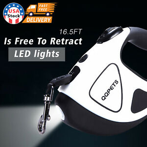 16.5FT Retractable Dog Leash With LED Walking Light